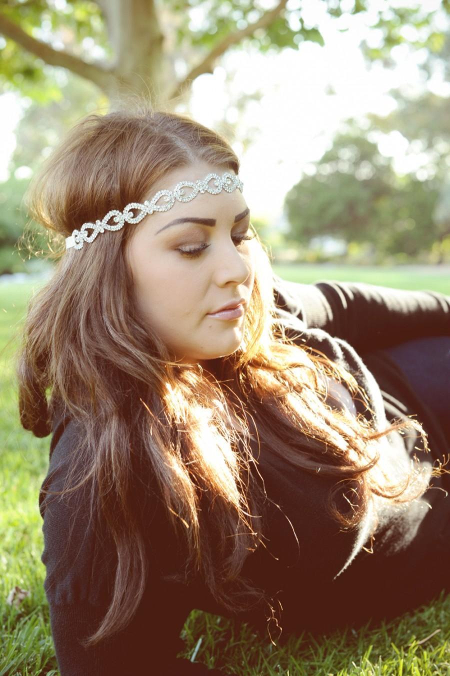 Mariage - Crystal Headband, Bridal Headband, Vintage Headband, Wedding Hair Piece, Bridal Headpiece , Headpiece, Beaded Headband,  Crystal Hair Piece