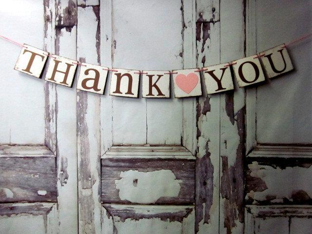 Свадьба - Thank You BANNERS WEDDING SIGNS Rustic Wedding Decorations Wedding Banners