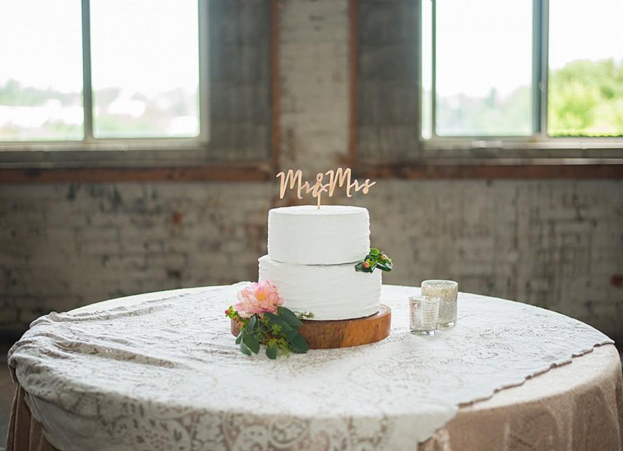 Mariage - Mr and Mrs Wedding Cake Topper
