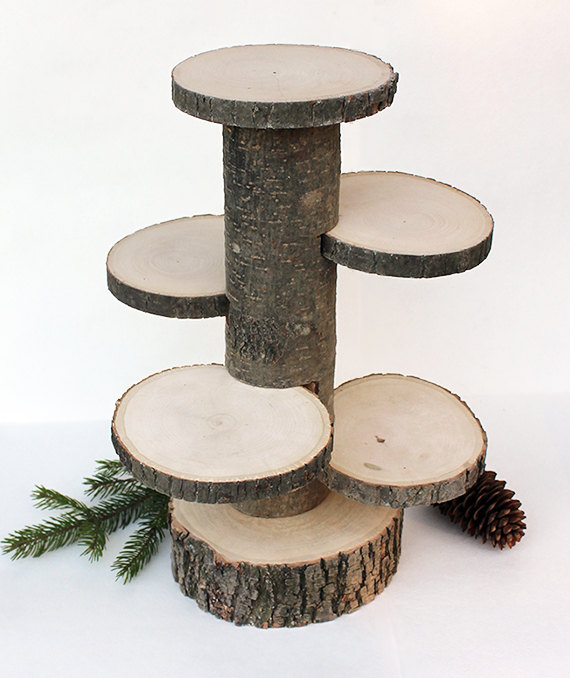 Log Tiered Cake Stand