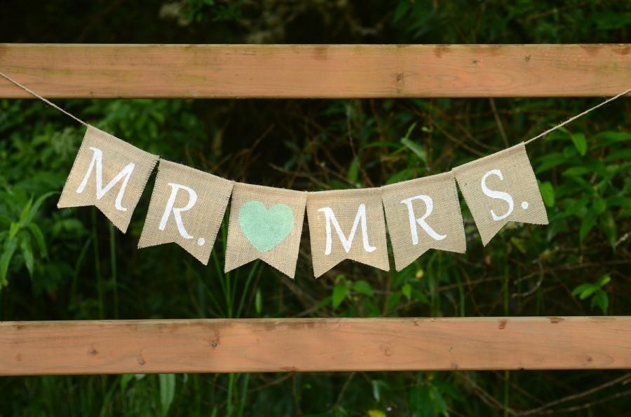 Свадьба - Mr and Mrs Burlap Banner - Mr Mrs Banner Wedding Banner Wedding Decoration Photo Prop