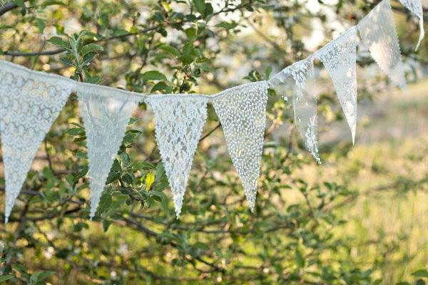 Свадьба - Lace Bunting Banner, lace bunting, wedding banner