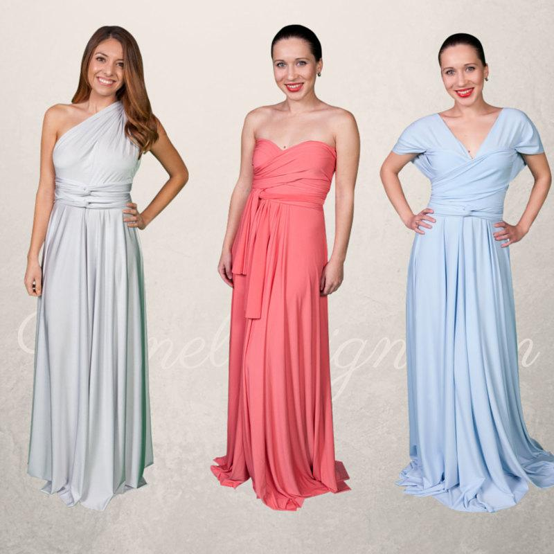 Convertible Bridesmaid Dress - Long Formal Infinity Convertible ...