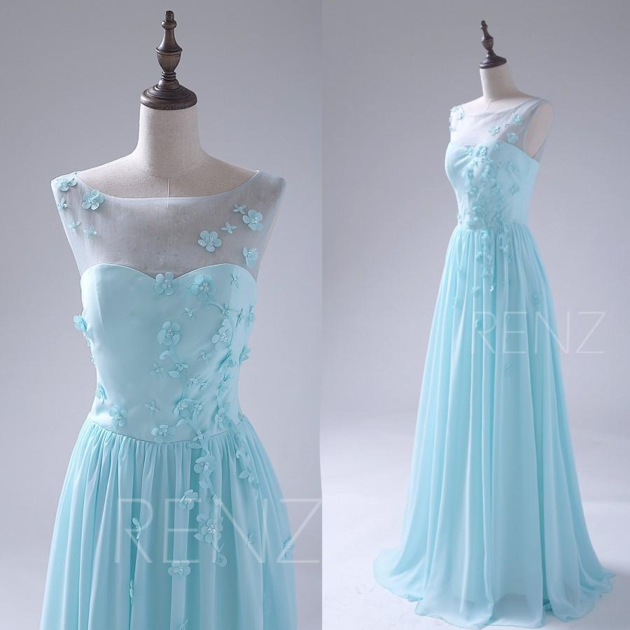 2015 light blue bridesmaid dress flower mesh scoop neck wedding 2015 light blue bridesmaid dress flower mesh scoop neck wedding dress chiffon illusion maxi dress cocktail prom dress floor legnth s043 ombrellifo Gallery