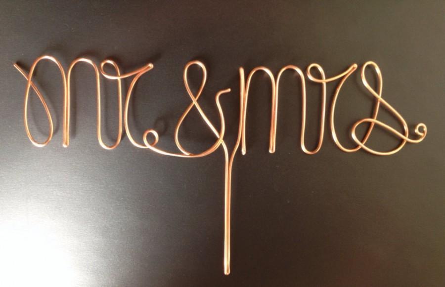 Свадьба - Copper Mr. and Mrs. Cake Topper