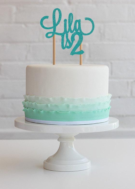 Свадьба - Personalized birthday cake topper