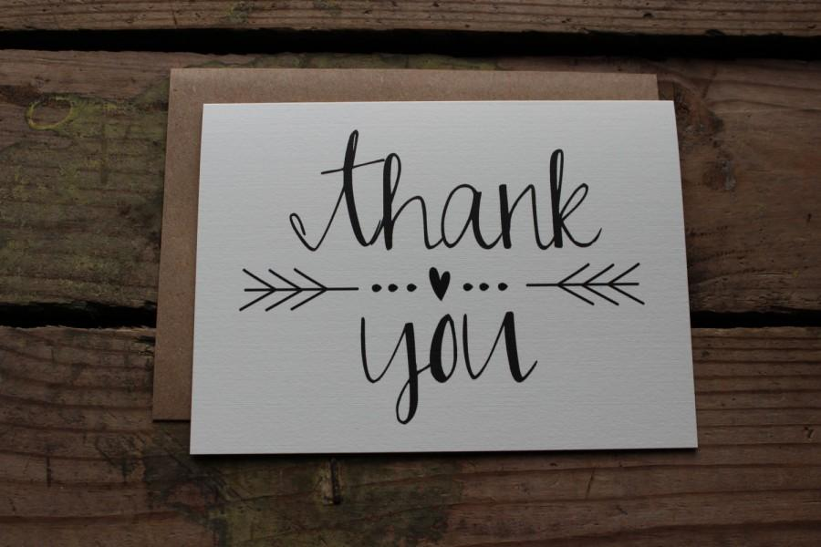 Mariage - Thank You Cards with Envelopes / Wedding / Shower / Engagement / Set of 10