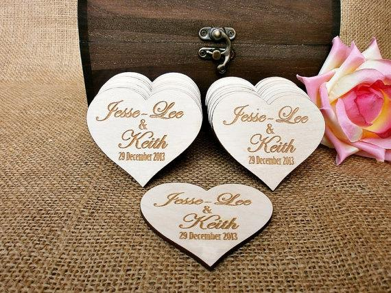 Custom Save The Date Rustic Wedding Favor Wooden Bridal Shower Personalised Magnet