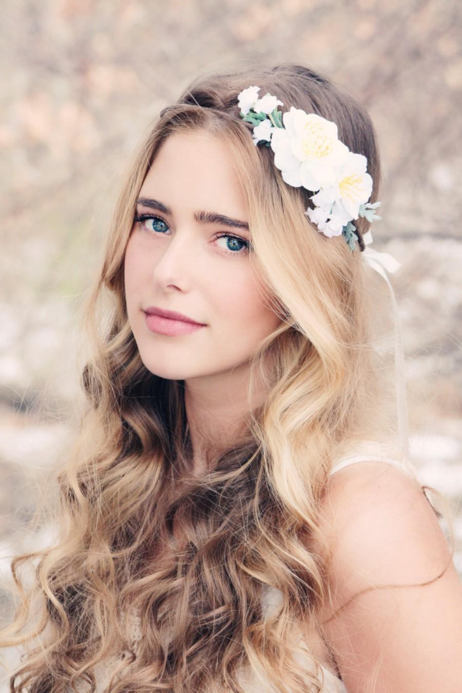 Boho woodland wreath bridal flower crown floral headpiece wedding boho woodland wreath bridal flower crown floral headpiece wedding head piece woodland hair crown izmirmasajfo