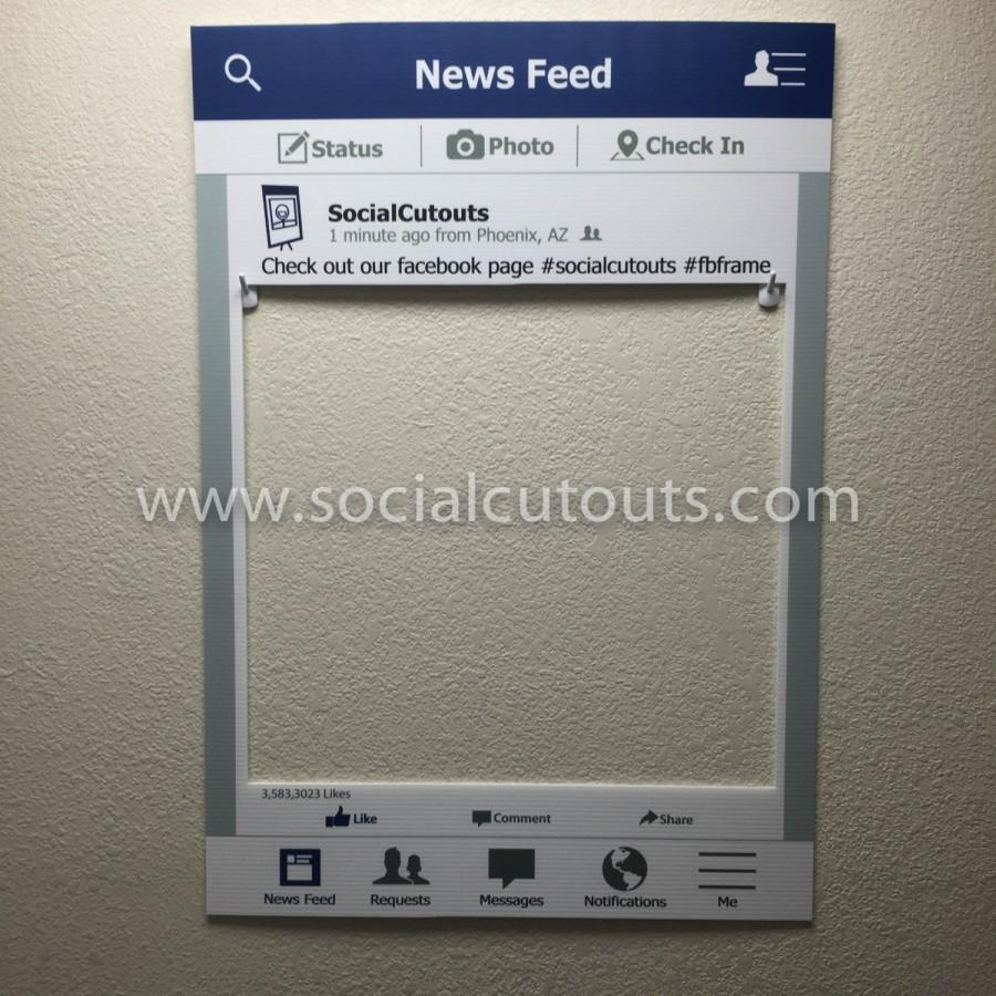 LARGE Printed & Shipped FaceBook Cutout Frame Prop #2445461 - Weddbook