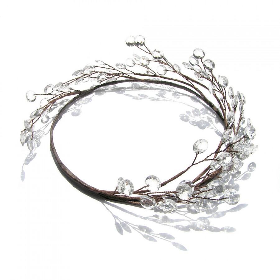 Wedding - Woodland Wedding, Wedding Circlet, Bridal Headpiece, Simple Wedding Hair Accessories, Bohemian, Country, Forest, Grecian, Goddess, Halo