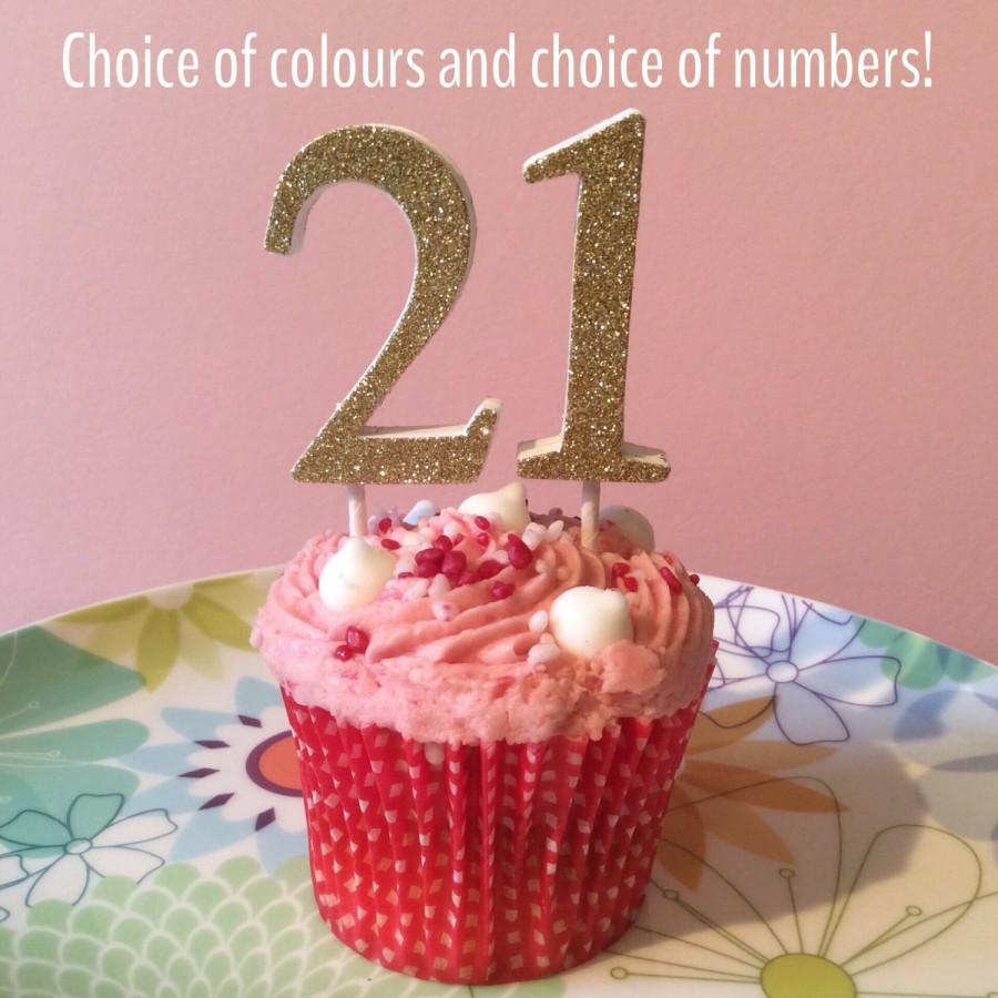Glitter Number Cake Topper Great Decoration For Birthdays Wedding