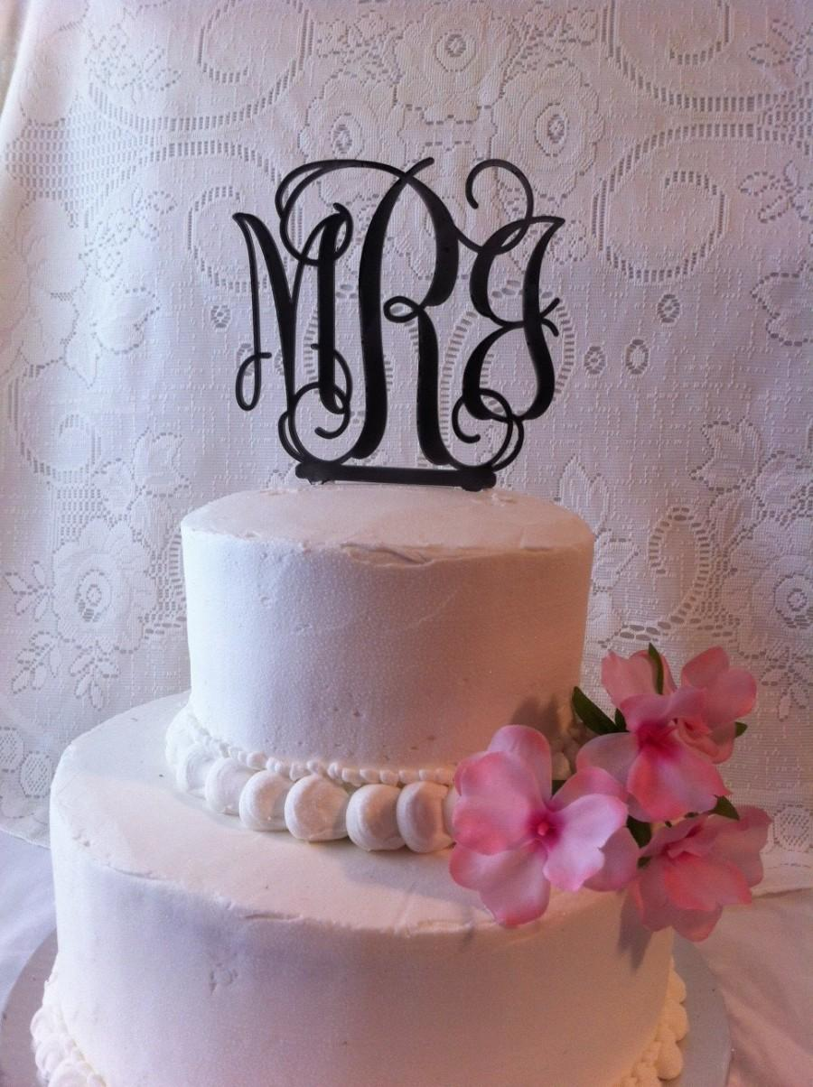 Свадьба - Three Letter Monogram Initial Wedding Cake Topper MADE In USA…..Ships from USA