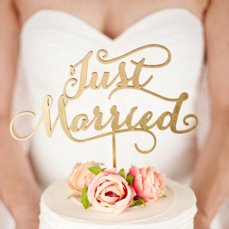 Mariage - Wedding Cake Topper - Just Married - Soirée Collection