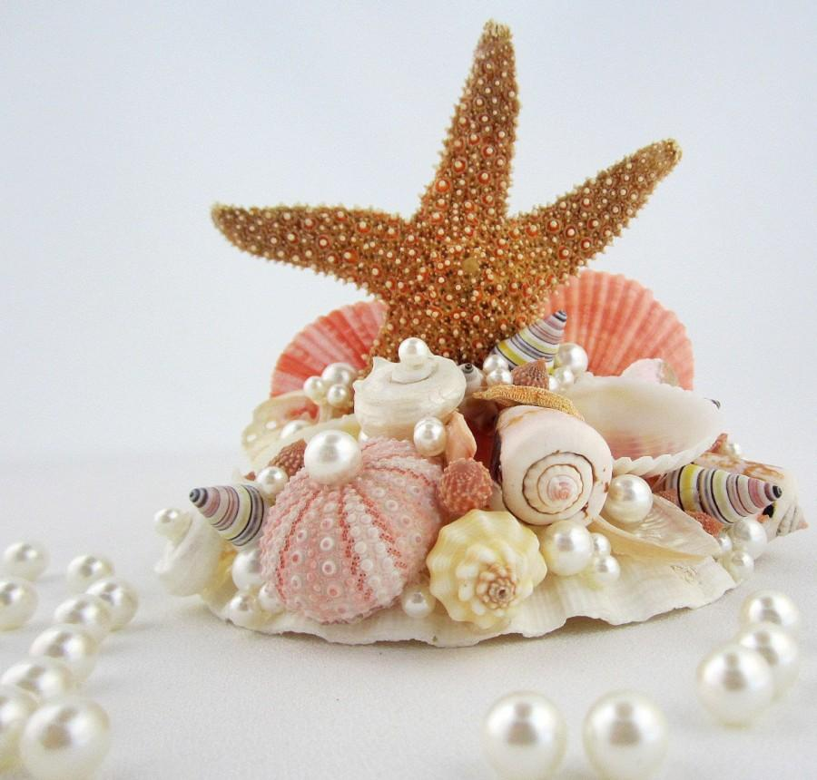 beach wedding starfish shell cake topper nautical starfish seashell cake top in your wedding. Black Bedroom Furniture Sets. Home Design Ideas