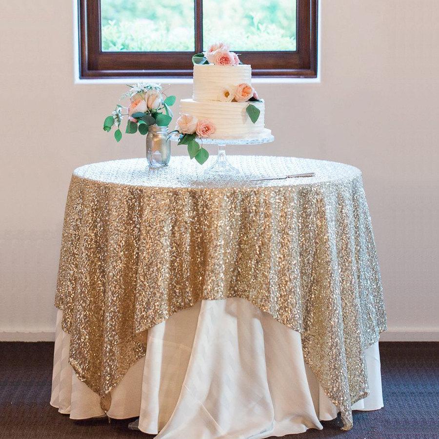 Свадьба - Sequin Tablecloth Overlays