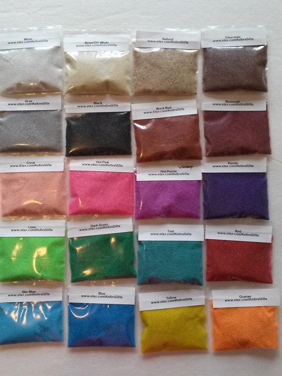 Wedding - 20 oz Unity Sand Ceremony Sand Art Weddings , purple, teal, beige