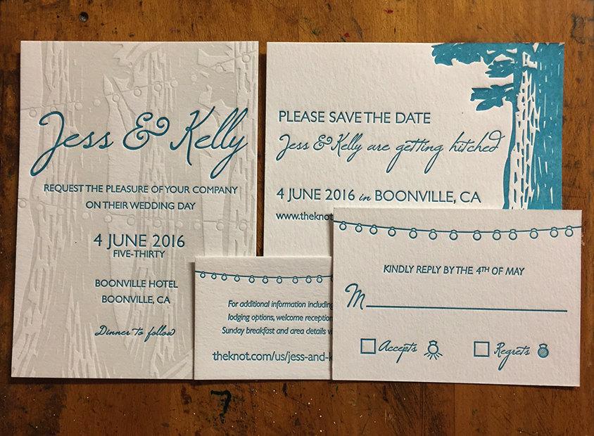 Hochzeit - Letterpress wedding invites