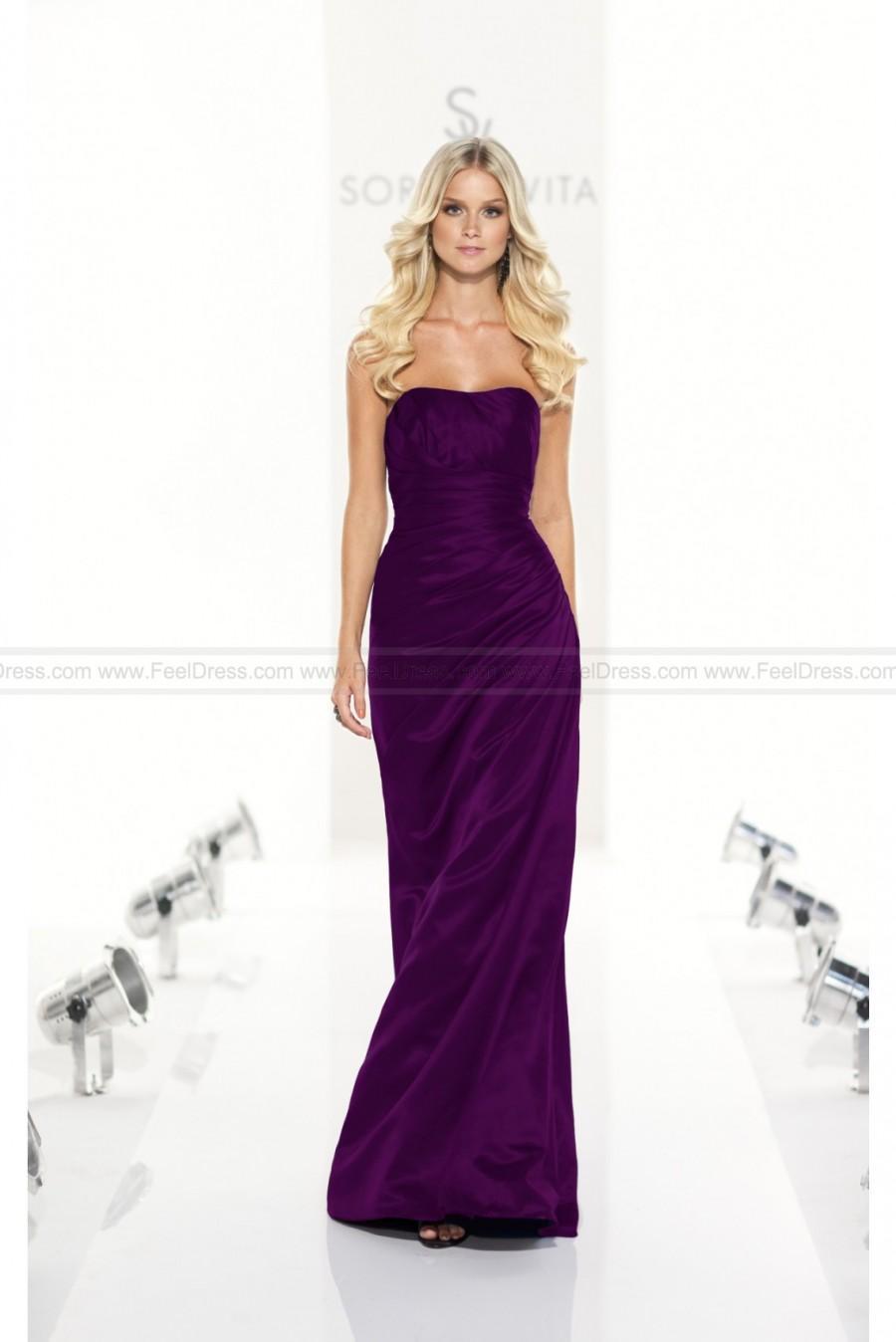 Свадьба - Sorella Vita Dark purple Bridesmaid Dress Style 8107