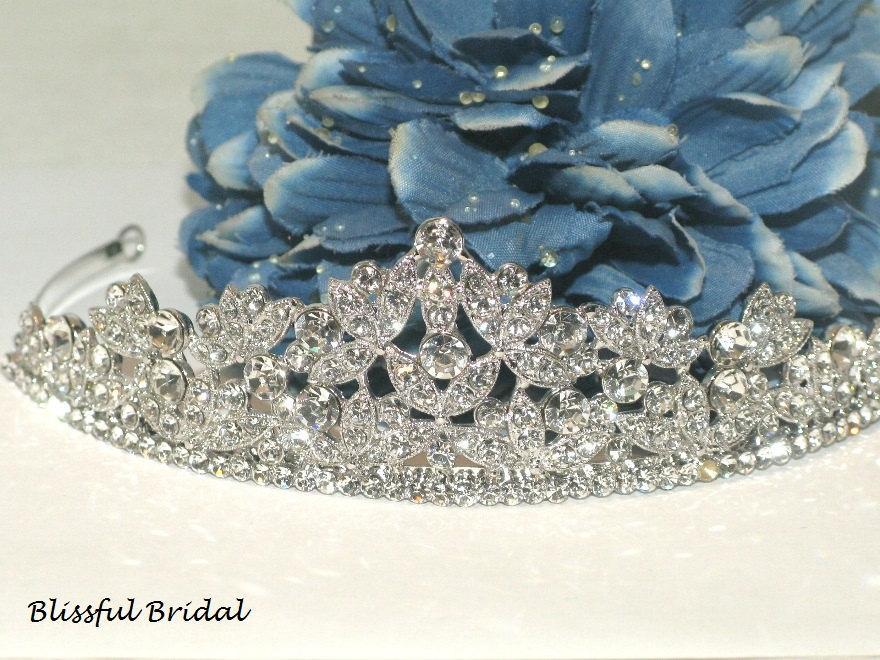 Wedding - Crystal Wedding Tiara, Bridal Crystal Headpiece, Crystal Wedding Crown, Crystal Tiara, Crystal Crown, Crystal Headpiece