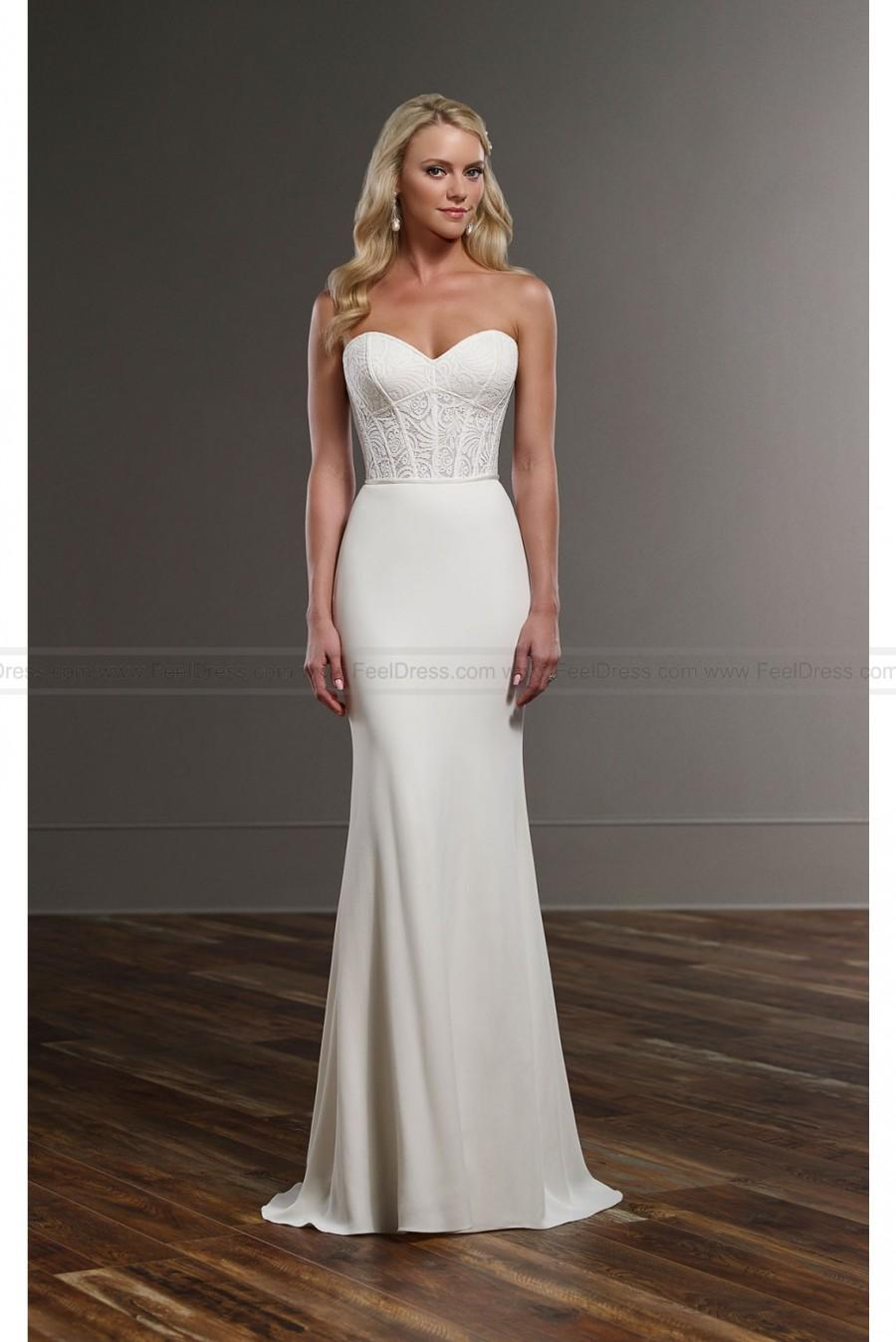 Martina liana modern wedding gown separates style cora for Cheap wedding dresses edmonton