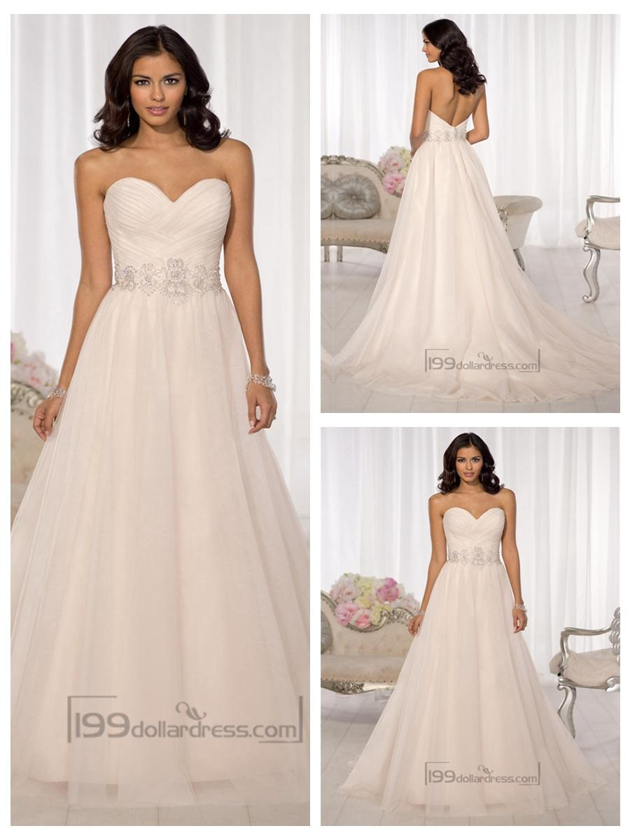 Свадьба - Simple Criss-cross Sweetheart A-line Wedding Dresses