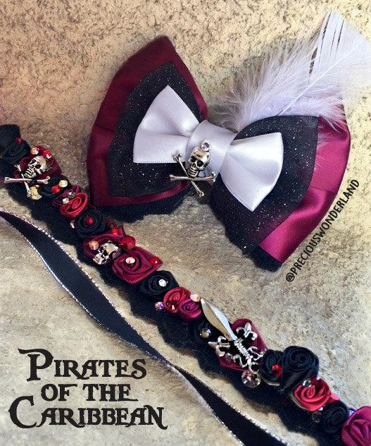Wedding - Pirate Themed Hair Bow