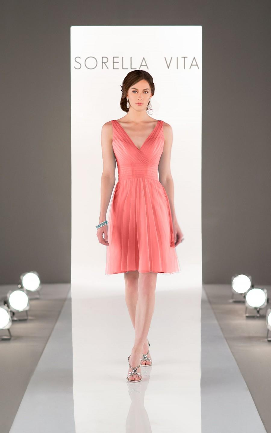 Wedding - Sorella Vita Tulle Bridesmaid Dress Style 8701