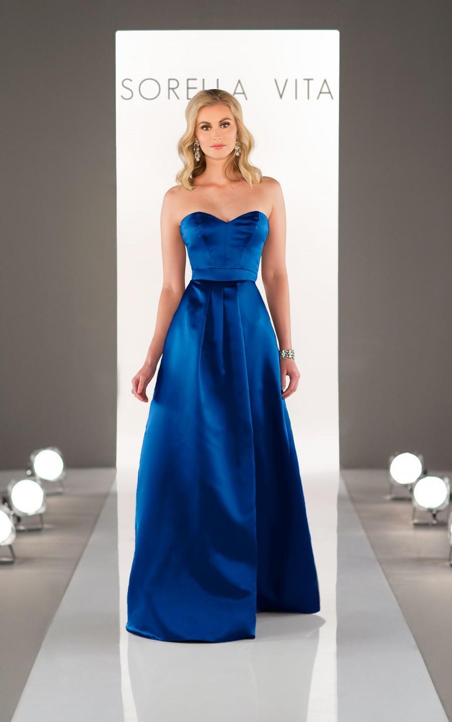Wedding - Sorella Vita Satin Bridesmaid Dress Style 8653