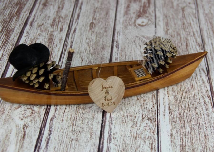 Mariage - Fishing Cake Topper, Canoe Cake Topper, Fishing, Boat Cake Topper, Canoe, Fisherman Cake Topper