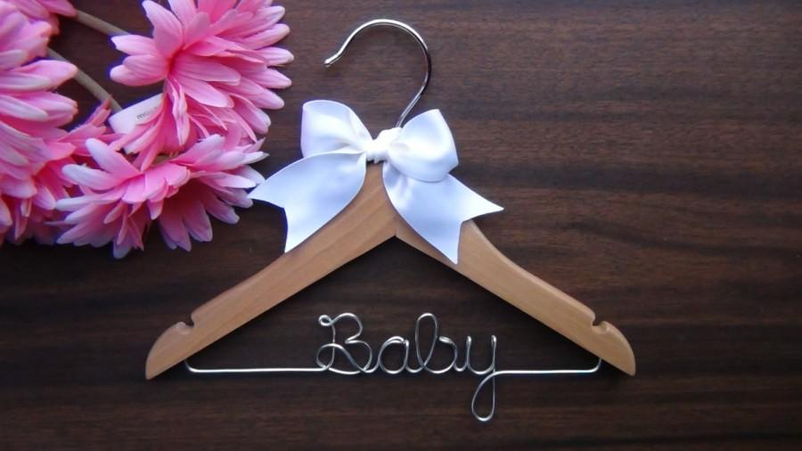 Childrens Personalized Hanger Custom Baby Shower Gift Hangers