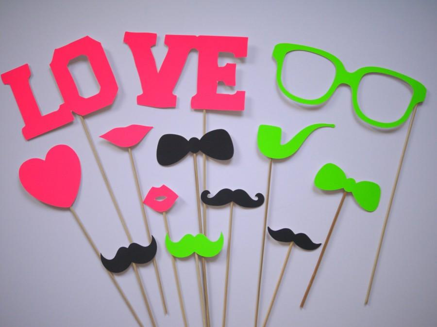 "Mariage - Fotoprops ""NEON"" wedding, photo box, photo booth"