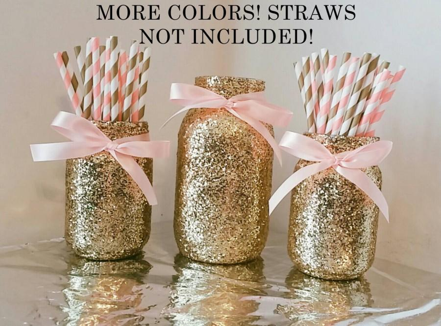 Sale pink and gold mason jar set party