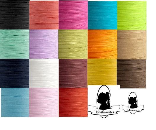 Mariage - 10 metres Paper Raffia Tying Ribbon 7mm  - 23 Colours available Gifts Flowers Craft Wedding Favour