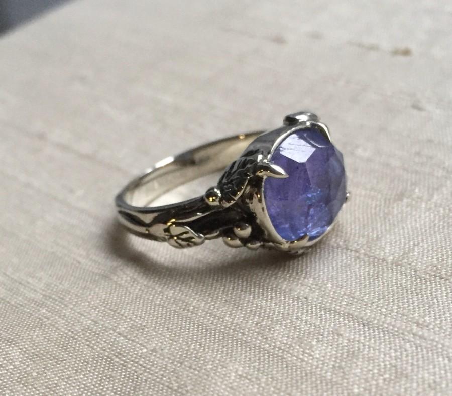 Wedding - Tanzanite Woodland Vine Ring in 14kt White Gold