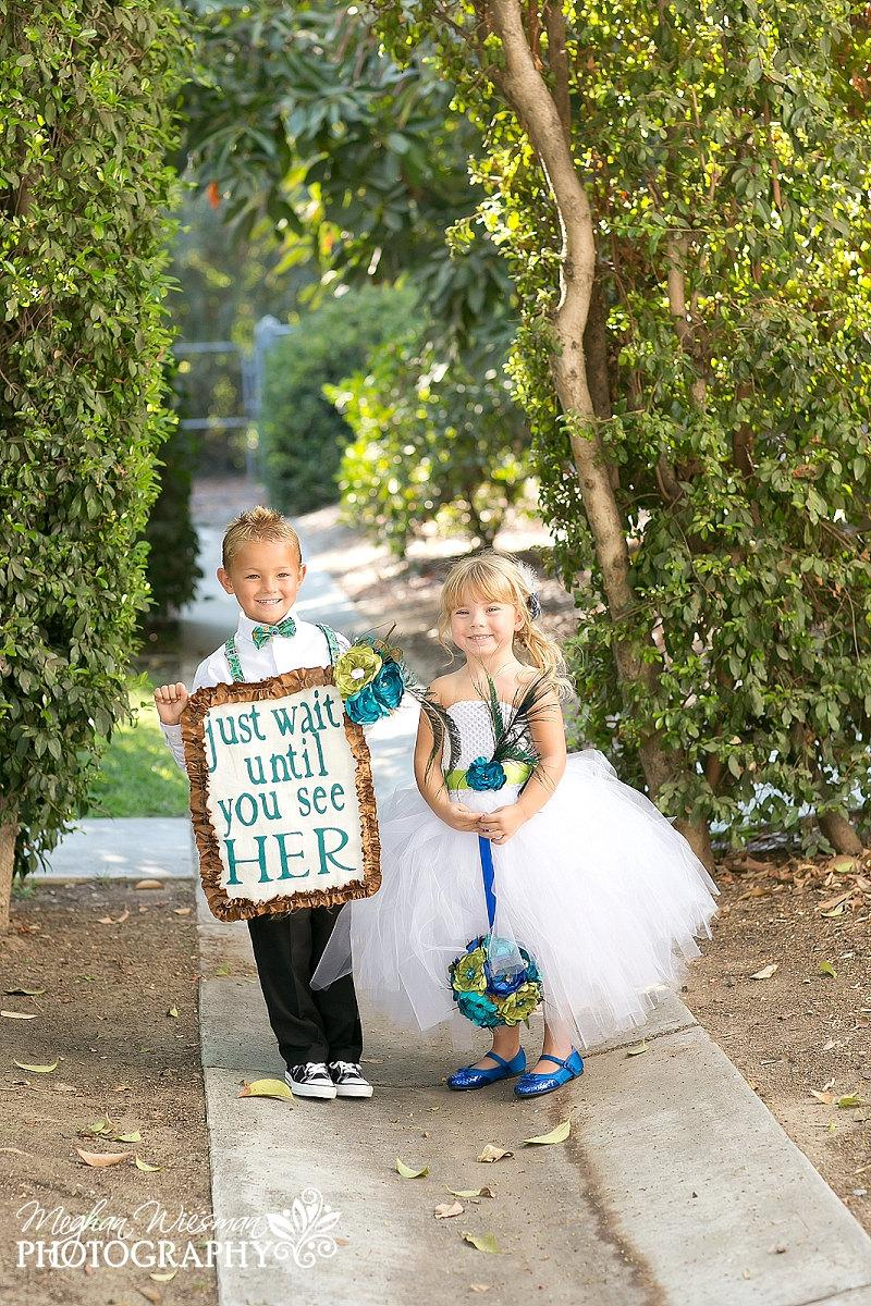 Boda - Peacock Flower Girl Dress