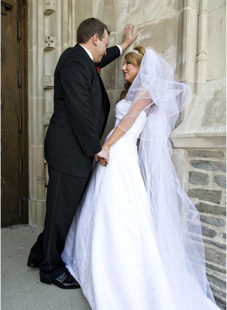 Mariage - Custom Handmade 1, 2, or 3 Tier Cathedral Veil With a Pencil Edge Bridal Wedding Starting At Only 39.99