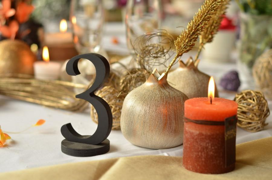 Свадьба - wooden table numbers, wedding table decoration