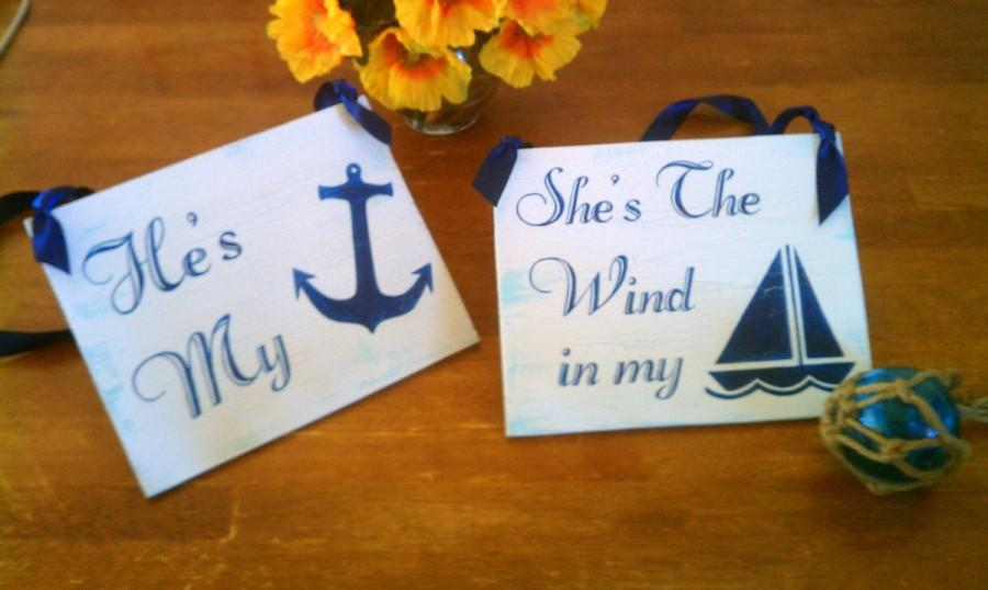 Nautical wedding signs wood navy blue beach wedding decor military nautical wedding signs wood navy blue beach wedding decor military bride and groom signs large junglespirit Images