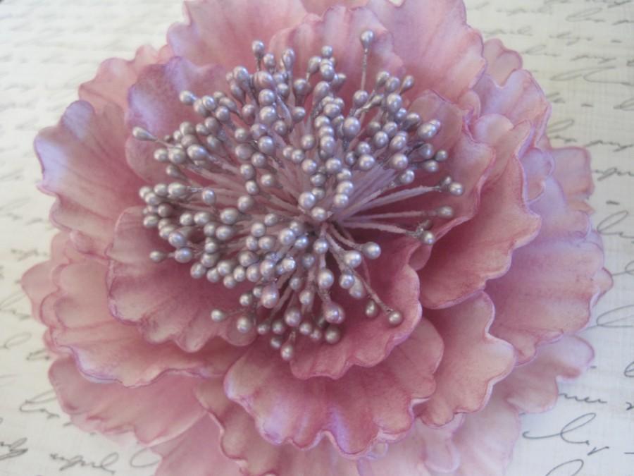 Свадьба - Plum Sugar Peony Wedding Cake Topper
