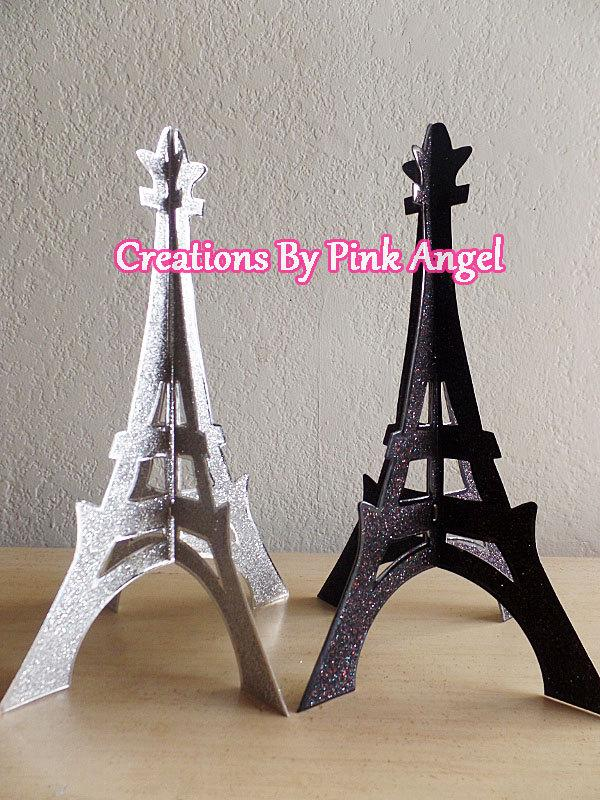 3d Eiffel Tower Topper Glitter Eiffel Tower Eiffel Tower Cutout
