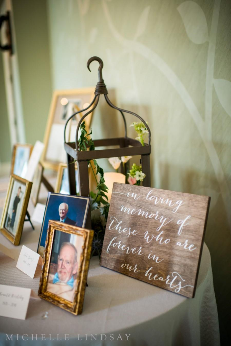 Свадьба - In Loving Memory Sign - Wooden Wedding Signs
