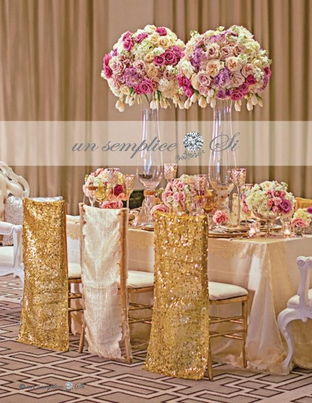 زفاف - Sequin Chair Cover,  Chiavari Chair Covers, Sequin Chair Decor ,   LARGEST COLOR SELECTION