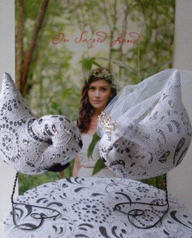 Wedding - Wedding Cake Topper French Lace Love Birds Regal Crown  Newburystreetchic  We Ship Internationally