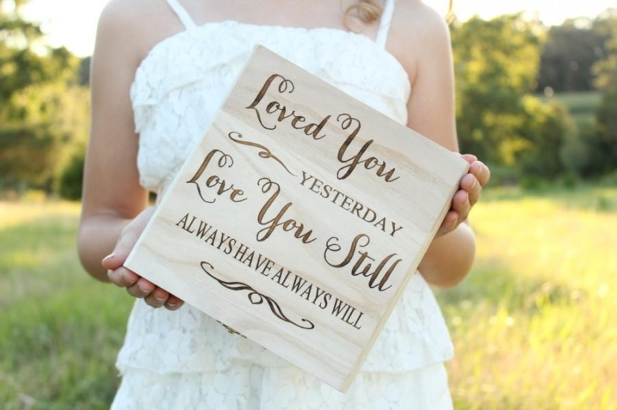 Rustic Love Letter Keepsake Box Bridal Shower Gift Wedding Gift Love