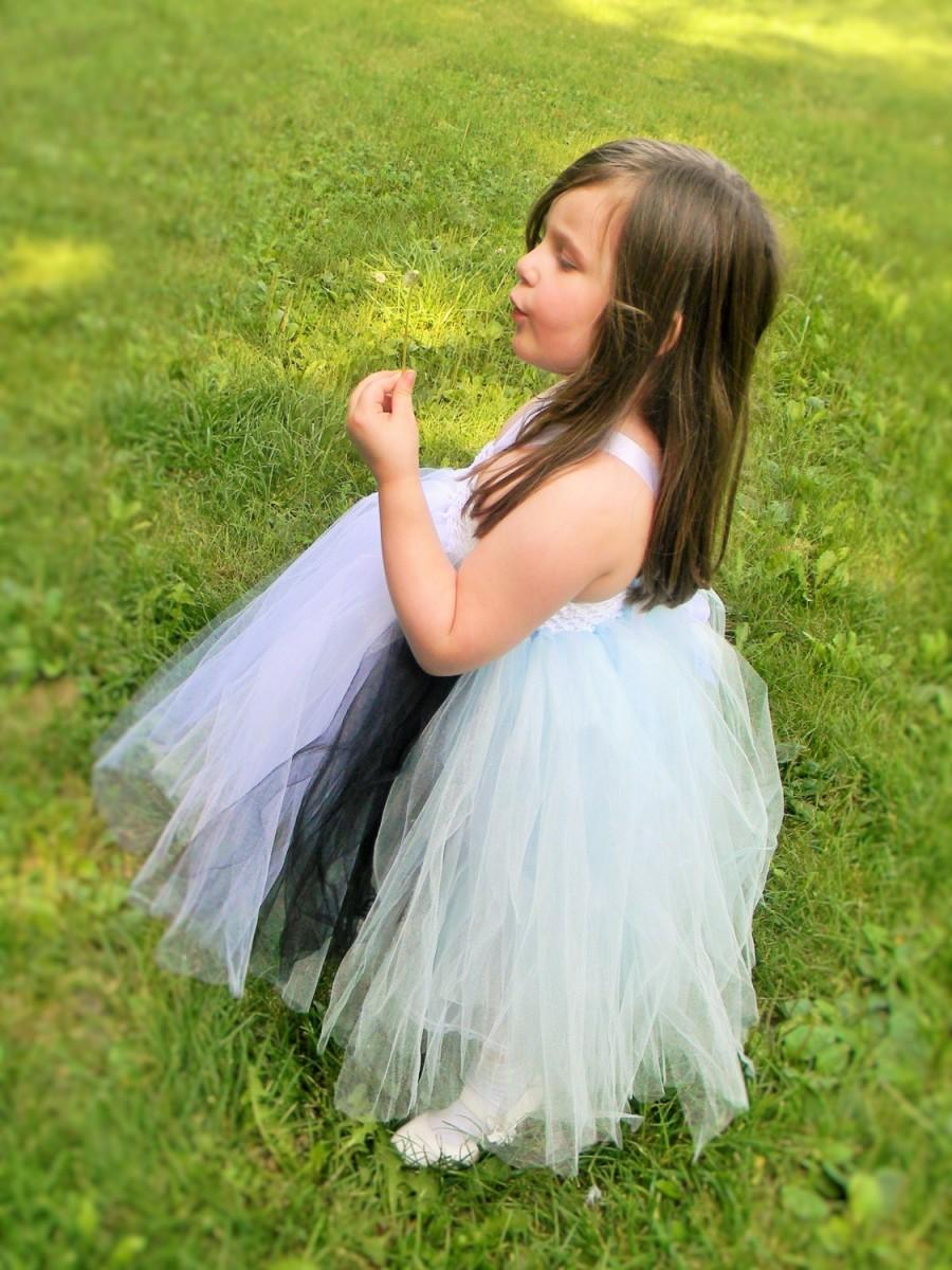Mariage - On Sale Flower Girl Tutu Dress-Alice in Wonderland Tutu Dress-Pageant Dress-Junior Bridesmaid-Toddler Flower Girl Dresses