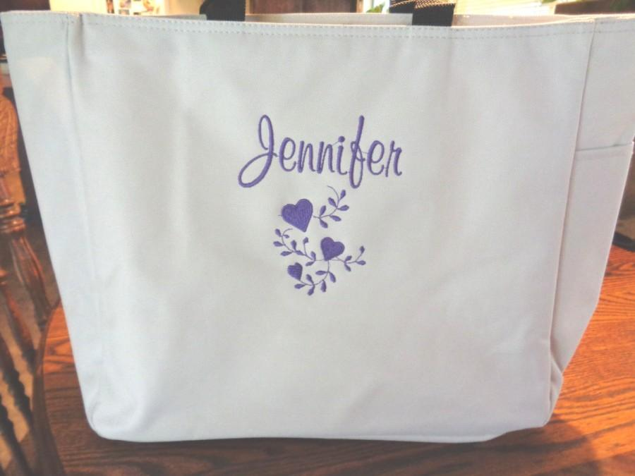 Wedding - 9 Personalized Tote Bag Monogram Bridesmaid Gift Wedding Teacher FRIEND SHOWER Personalized Embroidered