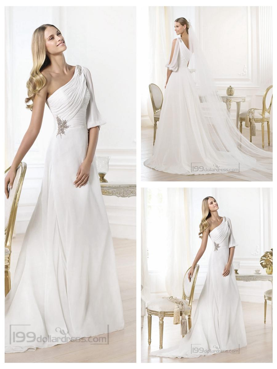 wedding dresses with one shoulder