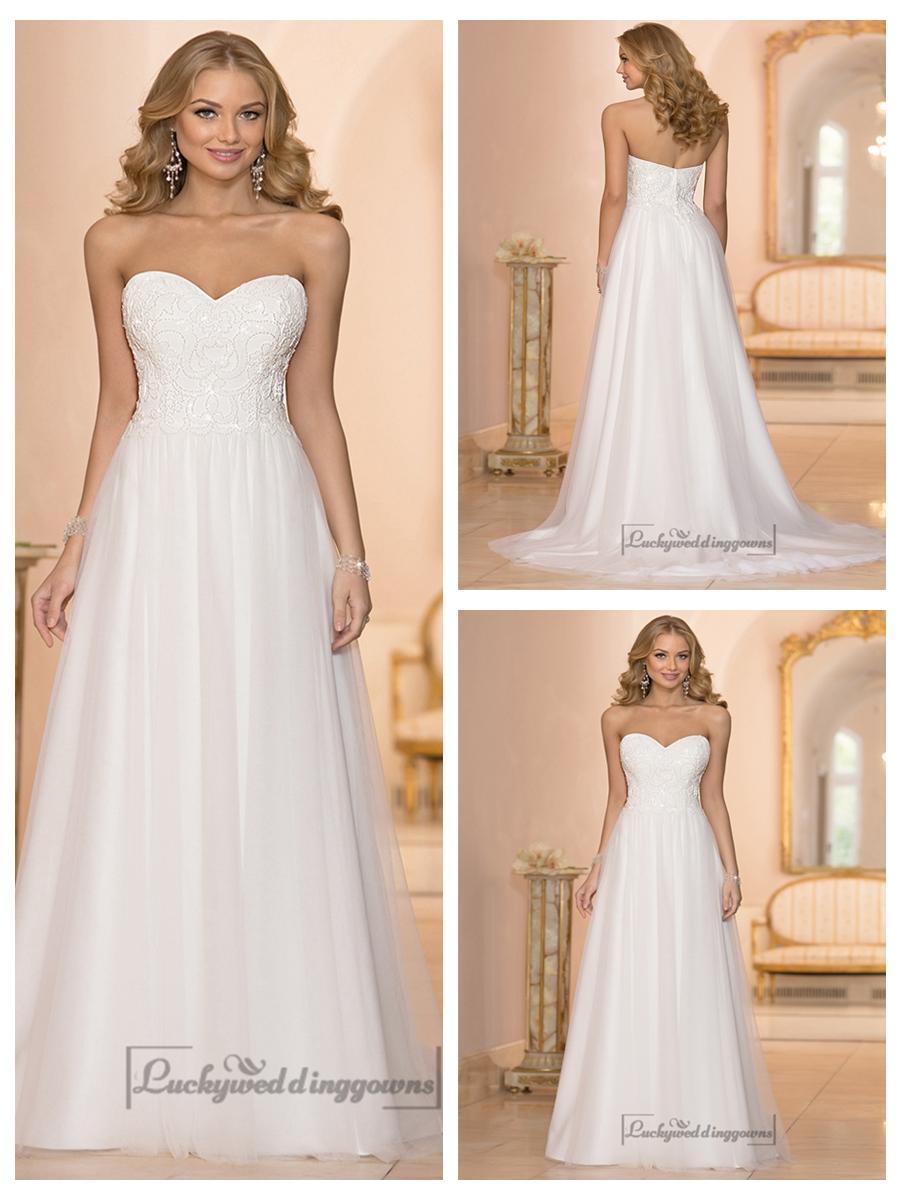 Wedding - Sweetheart Crystal Beaded A-line Wedding Dresses