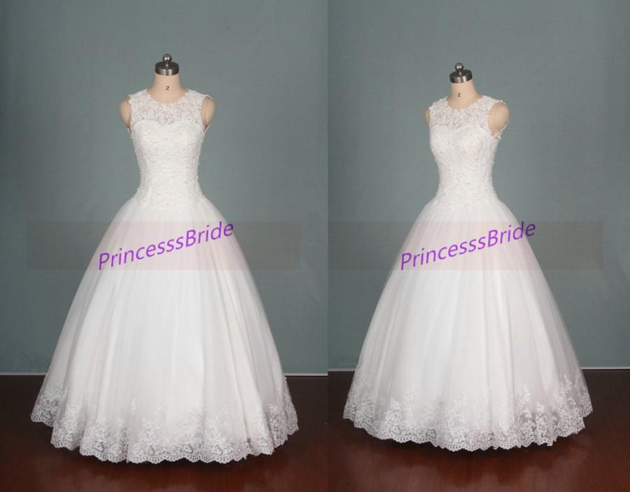 2016 New Design Wedding Gowns Hot Ivory Tulle Wedding Dress With ...